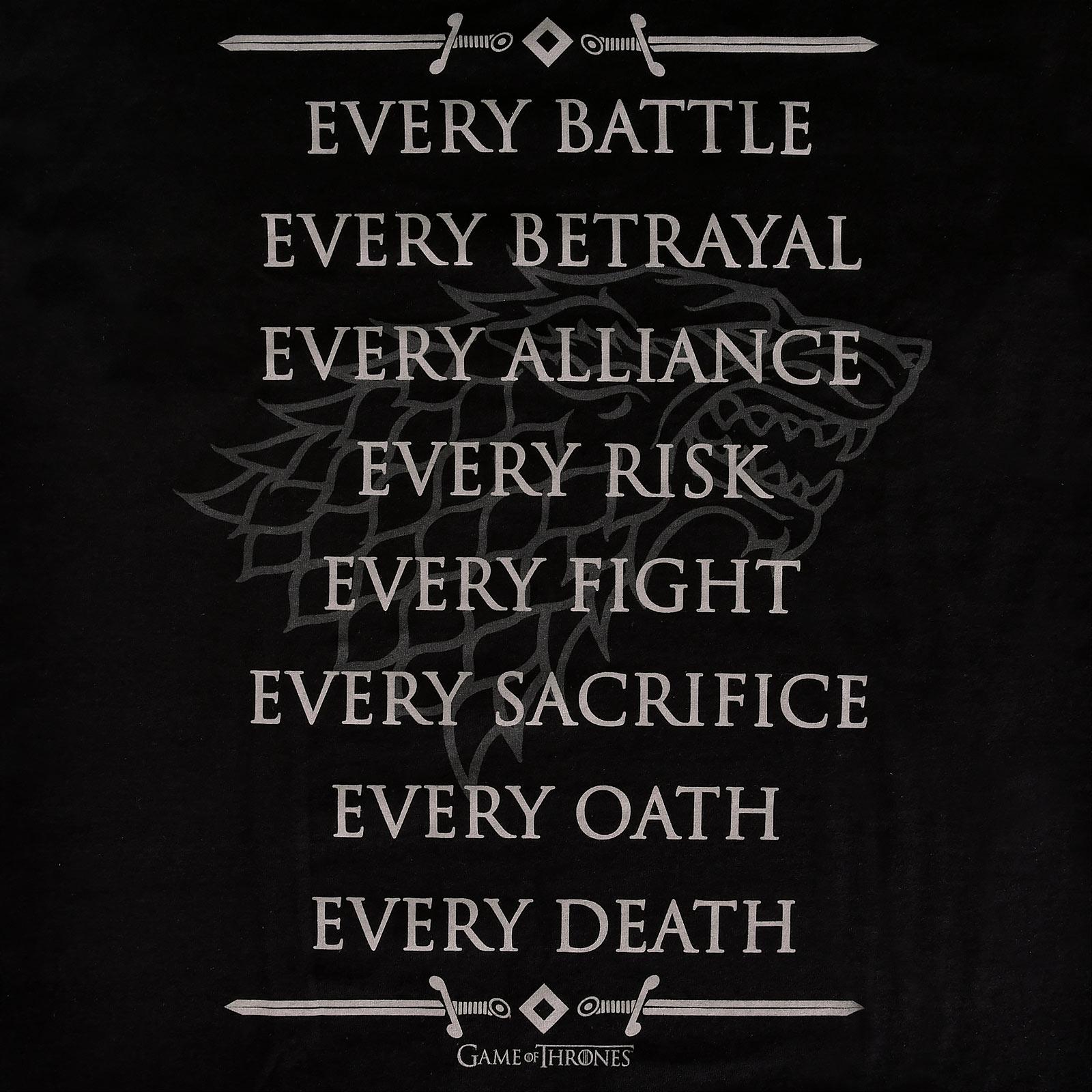 Stark For The Throne T-Shirt schwarz - Game of Thrones