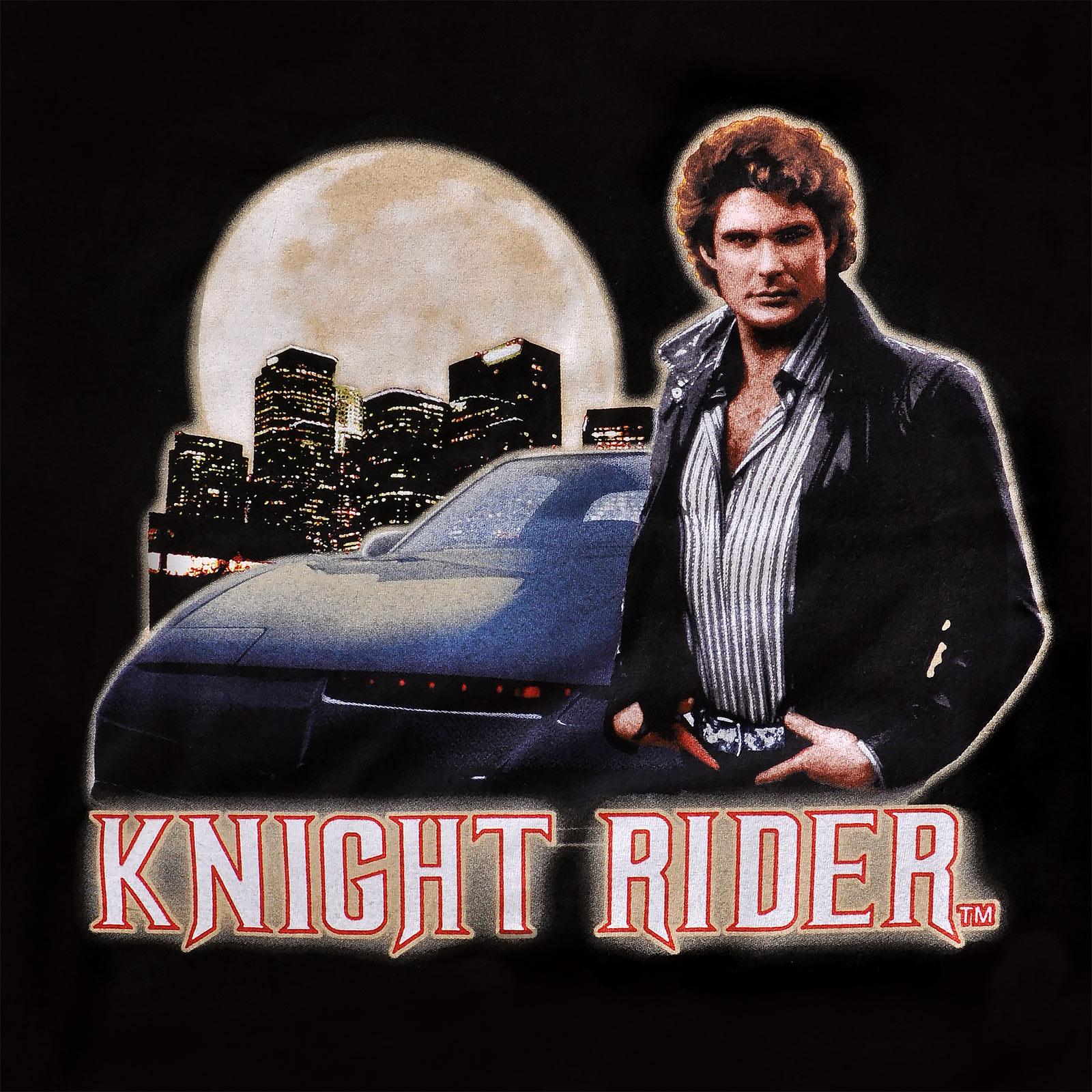 Knight Rider - Michael & Car T-Shirt schwarz