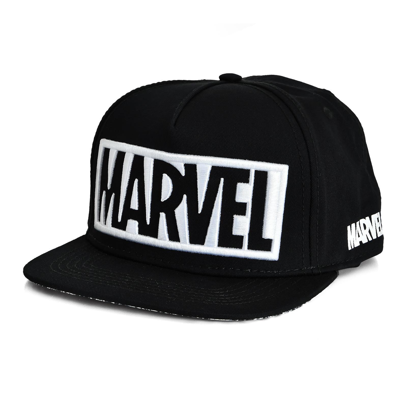 Marvel - Logo Snapback Cap schwarz