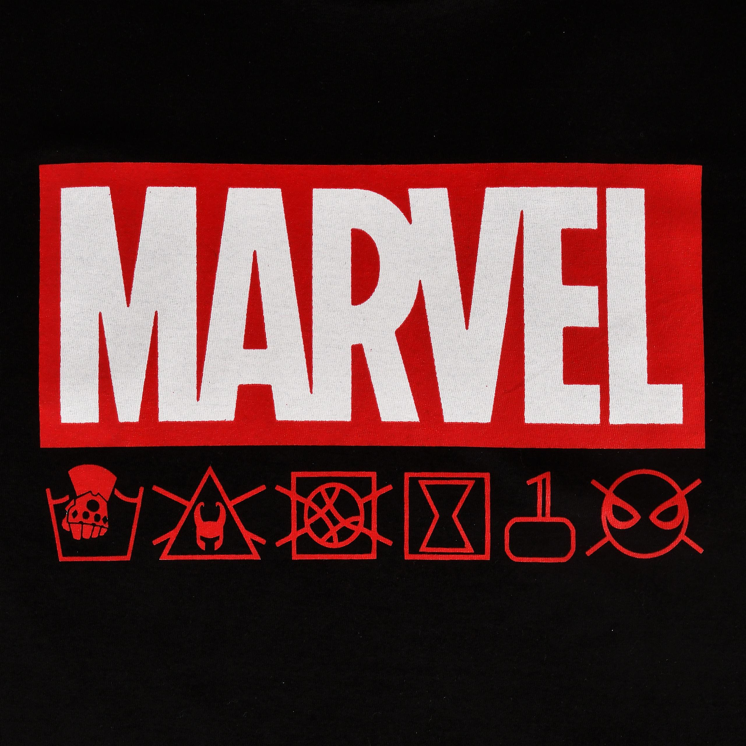 Marvel - Logo & Icons T-Shirt schwarz