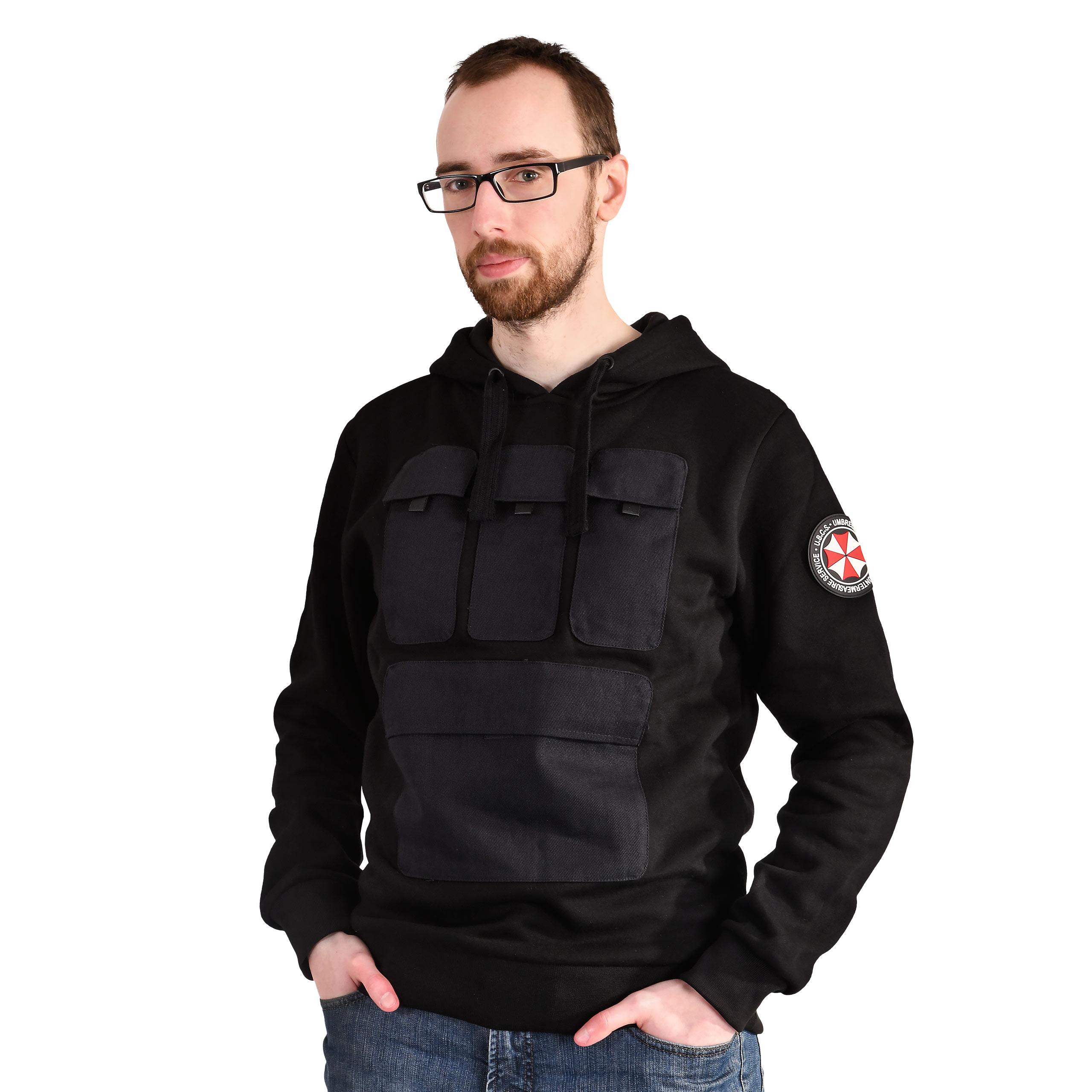 Resident Evil - U.B.C.S. Outfit Military Hoodie schwarz