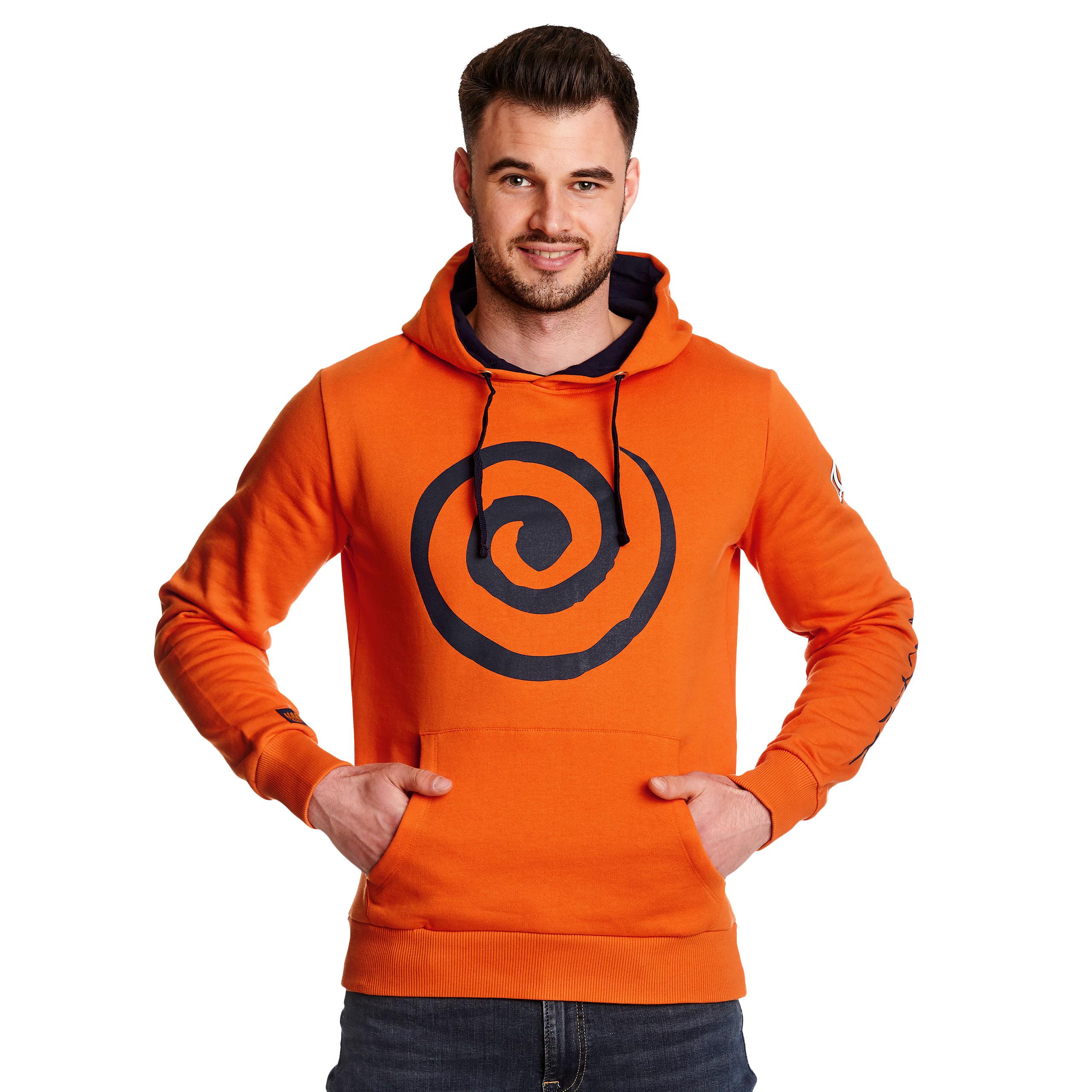 Naruto - Uzumaki Clan Symbol Hoodie orange