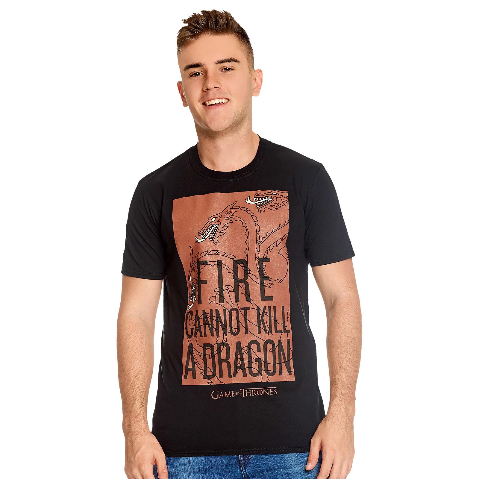 Game of Thrones - Fire Cannot Kill a Dragon Targaryen T-Shirt schwarz