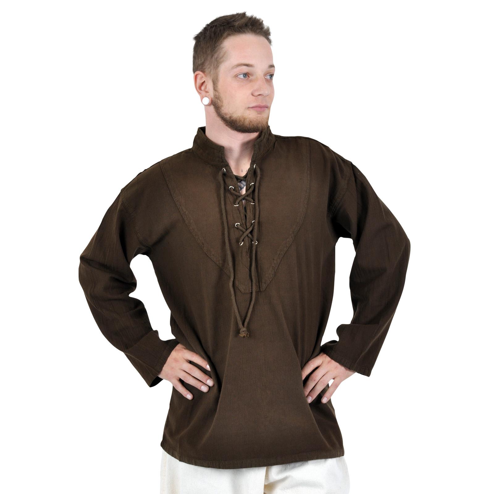 Mittelalterliches Hemd braun