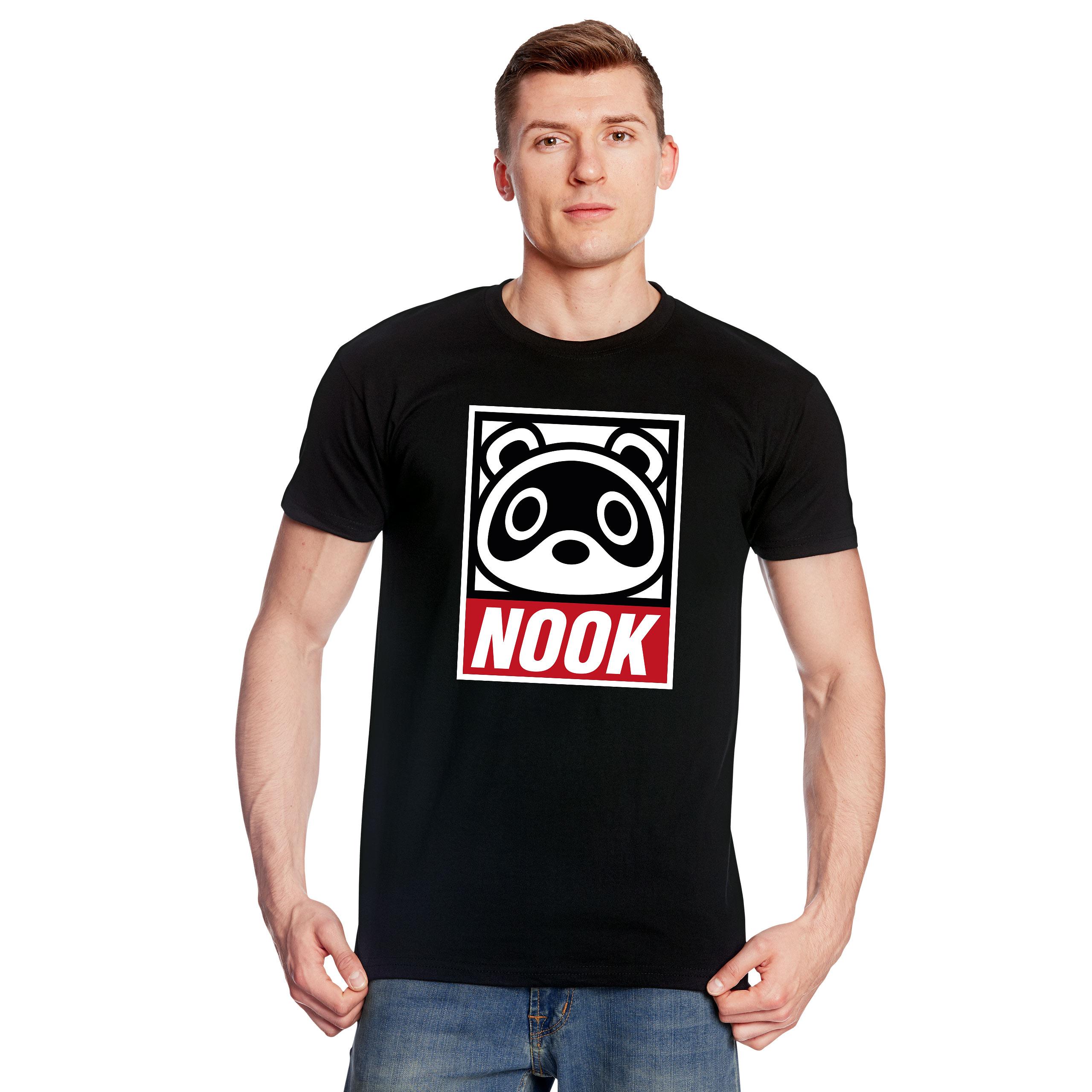 Tom Nook T-Shirt für Animal Crossing Fans schwarz